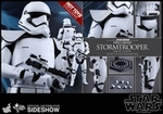 """12"""" Star Wars The Force Awakens First Order Stormtrooper Squad Leader 1/6th Scale Action Figure Hot Toys Exclusive"""