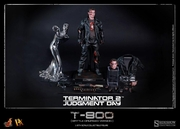 """12"""" Terminator 2: Judgment Day T-800 Battle Damaged Version 1/6th Scale Action Figure Hot Toys"""