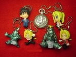 Fullmetal Alchemist Keychain Figure Set of 7 Full Metal