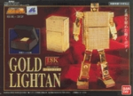 Soul of Chogokin GX - 32 Gold Lightan 18K Plating Action Figure Bandai