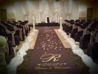 Custom Brown Cloth Aisle Runner