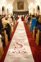 Custom Fabric Wedding Aisle Runner