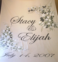 Custom Floral Fabric Aisle Runner