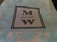 Damask Custom Cloth Aisle Runner