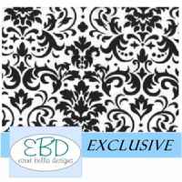 Damask Pattern Black on White