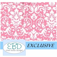 Damask White on Pink