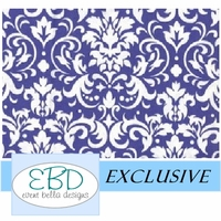 Damask White on Purple