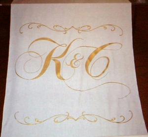 Double Scrolls with Two Letter Monogram