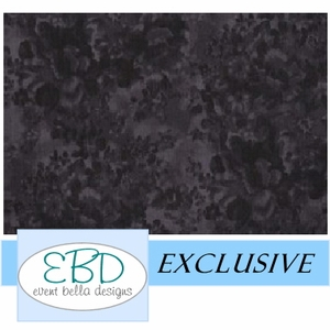 Floral Black Aisle Runner