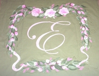 Floral Frame with Monogram