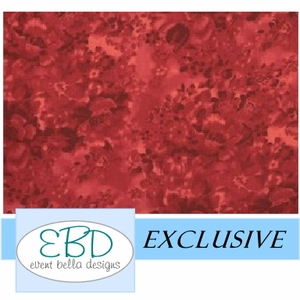 Floral Ruby Red Aisle Runner