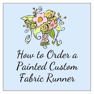 Order a Painted Custom Aisle Runner