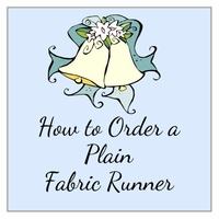 Order a Plain Fabric Aisle Runner