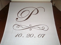Monogram with Scroll and Date