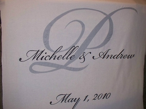 Names with Monogram and Date Aisle Runner