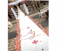 New Orleans Custom Fabric Aisle Runner