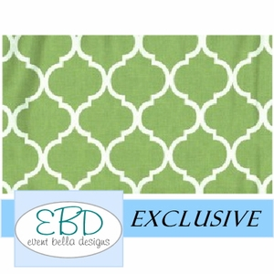 Pemberley White on Lime Green Aisle Runner