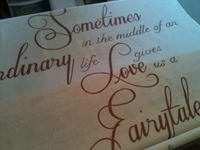 Sometimes Love is a Fairytale Aisle Runner