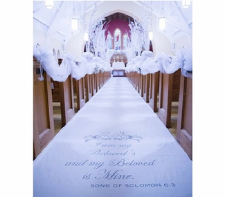 Song of Solomon with Scroll Aisle Runner