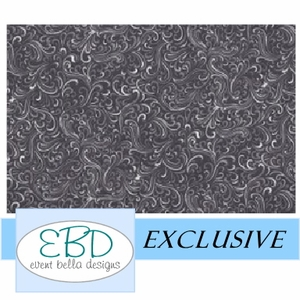 Swirly Girl Black Aisle Runner
