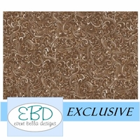 Swirly Girl Espresso Aisle Runner