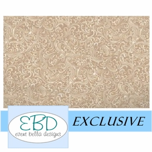 Swirly Girl Ivory White Aisle Runner