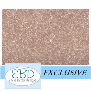 Swirly Girl Mocha Aisle Runner