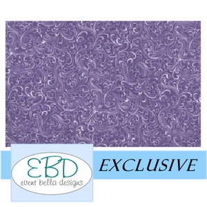 Swirly Girl Purple Aisle Runner