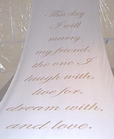 This Day I will Marry Aisle Runner