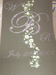 Vining Roses with Monogram and Date