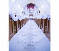 Winter White Custom Fabric Aisle Runner