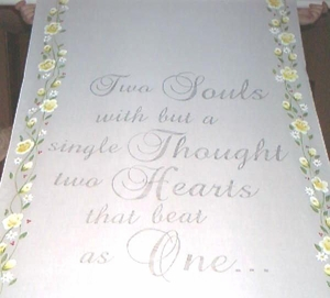 Yellow Rose & Rosebud Border with Verse
