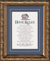 "Christian Home Rules Family Values 7"" X 9"""