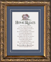 """Christian Home Rules Family Values 7"""" X 9"""""""