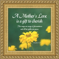 "A Mother's Love Framed Gift 4.5"" X 4.5"""