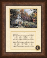 "Amazing Grace Song with Church Framed Art 8"" x 10"""
