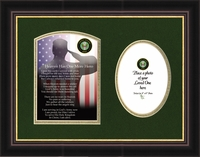 Military Memorial Army Photo Gift for Sympathy and Condolence for Veterans or those who served in the Military