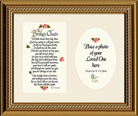 Broken Chain Sympathy Poem Photo Framed Gift for Memorial, Encouragement and Comfort in Time of Bereavement