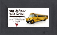 """Bus Driver Appreciation Framed Gift 2.5"""" X  5"""" with Built in Easel"""
