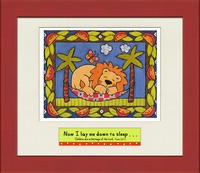 "Christia Child Wall Decor - Scriptural Lion ""Now I Lay"" - 12"" x 14"""