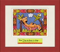 "Christian Children's Wall Art - Scriptural Giraffe - 12"" x 14"""