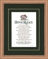"""Christian Home Rules - 10"""" x 12"""""""