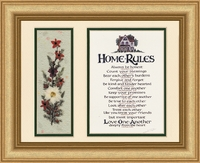 Christian Home Rules with Dried Flowers