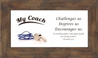 """Coach Appreciation Framed Gift 2.5"""" X 5"""" with Built in Easel"""
