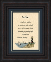 """Farther Inspirational Saying Framed Gift 8.5"""" X 10.5"""""""