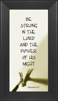 """Father Inspirational Saying Framed Gift 4.5"""" X 8"""""""