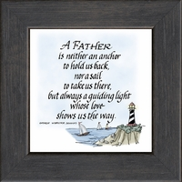 """Father Saying of Inspiration Framed Gift 4.5"""" X 4.5"""" with Built in Easel"""
