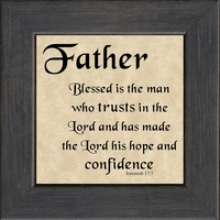 """Father Scripture Saying Gift Frame 4.5"""" X 4.5"""" with Easel"""