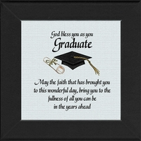 "God Bless You on Your Graduation Gift 4.5"" X 4.5"""