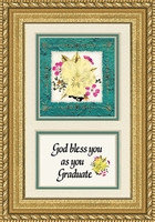 "Graduation Saying with Dried Flower framed Gift 5"" x 7"""